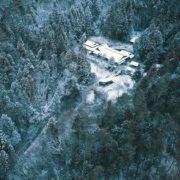 竜王山の朝早い冬