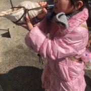 子供と法螺貝