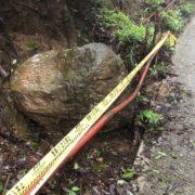 落石が少し奥に引っ込みました