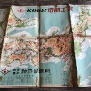 地図の足跡